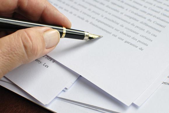 rédaction d'actes judiciaires